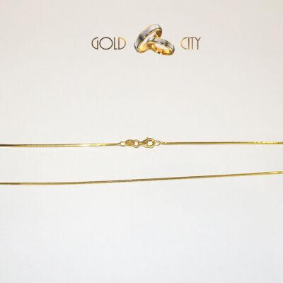 Sárga arany kígyó nyaklánc az ékszer webáruházból-goldcity.hu
