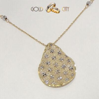 Sárga és fehér arany nyaklánc az ékszer webáruházból-GoldCity-Ékszer-Webáruház