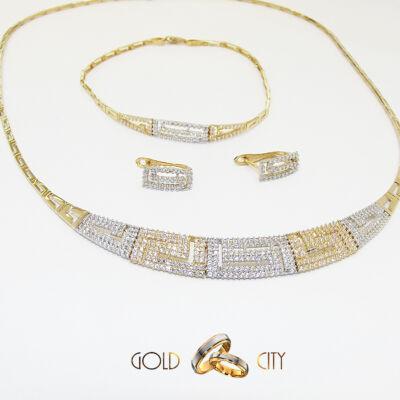 Sárga és fehér arany ékszer szett az ékszer webáruházból-GoldCity-Ékszer-Webáruház