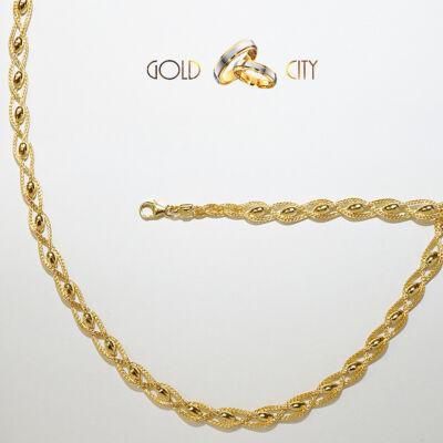 Sárga arany ékszer szett az ékszer webáruházból-GoldCity-Ékszer-Webáruház