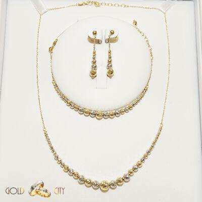 Arany fülbevaló nyaklánc és karlánc az ékszer webáruházból-GoldCity-Ékszer-Webáruház