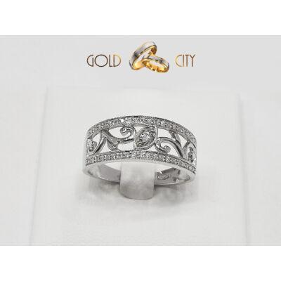 Gyémánt köves gyűrű az ékszer webáruházból-goldcity.hu