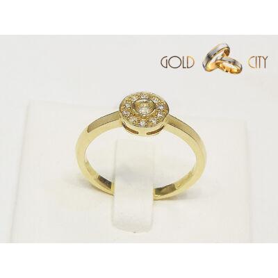 Brill köves sárga arany gyűrű az ékszer webáruházból-goldcity.hu