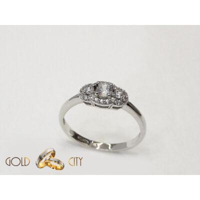 Fehér arany jegygyűrű az ékszer webáruházból-goldcity.hu