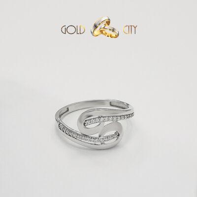 Fehér arany köves gyűrű a Goldcity Ékszer Webáruházból