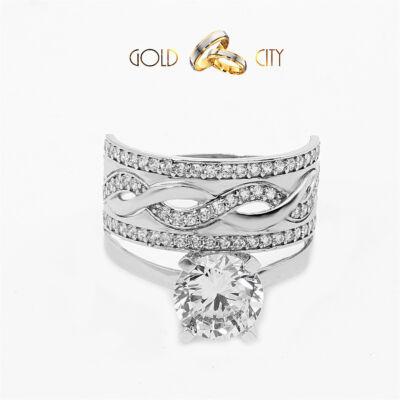 Fehér arany gyűrű az ékszer webáruházból-GoldCity-Ékszer-Webáruház