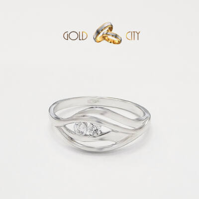 Klasszikus formájú női gyűrű, mely ideális választás jegygyűrűnek