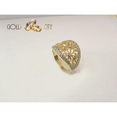 GY-S-1271-női arany gyűrű méret 57
