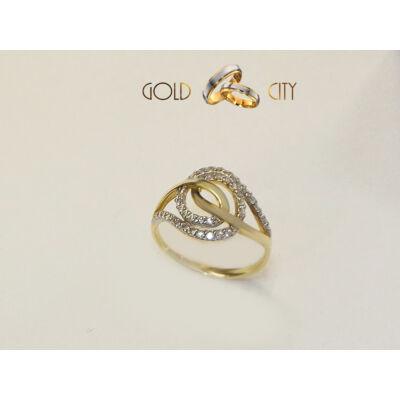 GY-S-190 sárga arany gyűrű mérete 57
