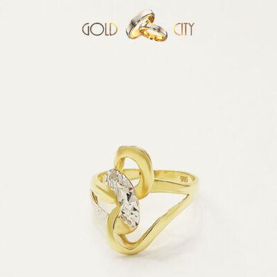 Sárga és fehér arany gyűrű az ékszer webáruházból-GoldCity-Ékszer-Webáruház