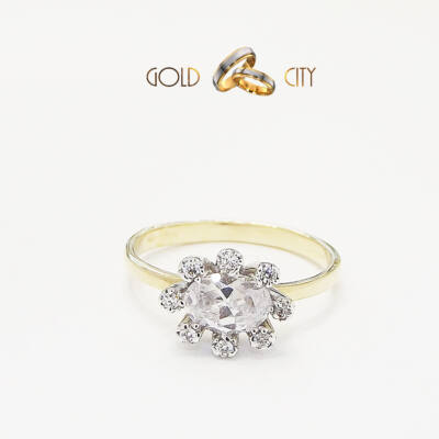Sárga arany köves gyűrű az ékszer webáruházból-GoldCity-Ékszer-Webáruház