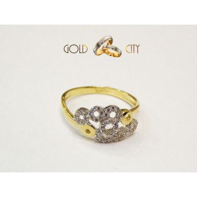 GY-S-801 sárga arany gyűrű mérete 57