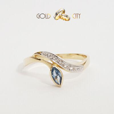Sárga arany gyűrű az ékszer webáruházból-GoldCity-Ékszer-Webáruház