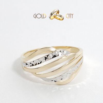 Sárga fehér arany gyűrű az ékszer webáruházból-GoldCity-Ékszer-Webáruház