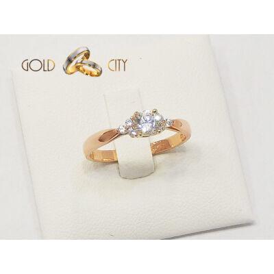 Rozé arany gyűrű, jegygyűrű az ékszer webáruházból-goldcity.hu