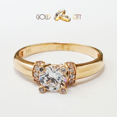 Rozé arany gyűrű az ékszer webáruházból-GoldCity-Ékszer-Webáruház