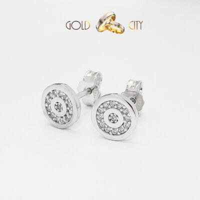 Köves fehér arany fülbevaló-goldcity.hu