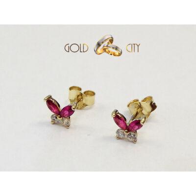 Pillangó fülbevaló az ékszer webáruházból-goldcity.hu
