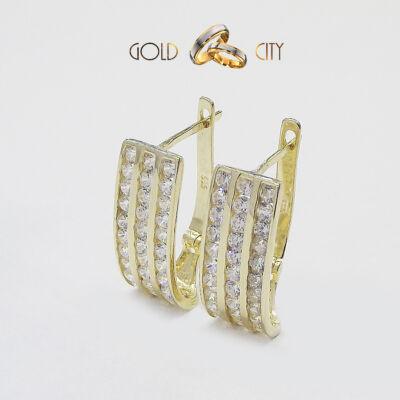 Sárga arany fülbevaló az ékszer webáruházból-GoldCity-Ékszer-Webáruház