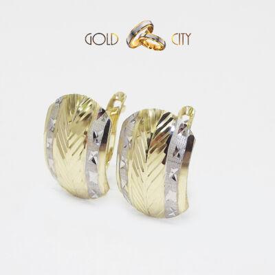 Sárga és fehér arany fülbevaló az ékszer webáruházból-GoldCity-Ékszer-Webáruház