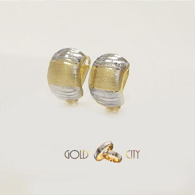 Sárga fehér arany fülbevaló az ékszer webáruházból-GoldCity-Ékszer-Webáruház