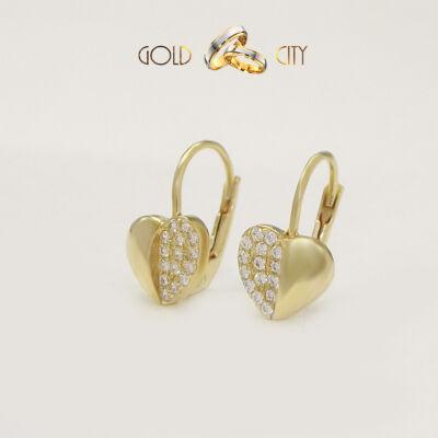 Sárga arany köves fülbevaló az ékszer webáruházból-GoldCity-Ékszer-Webáruház