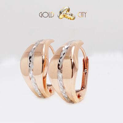 Rozé és fehér arany fülbevaló az ékszer webáruházból-GoldCity-Ékszer-Webáruház