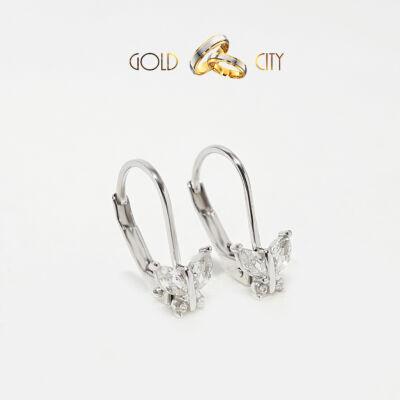 Fehér arany pillangó fülbevaló az ékszer webáruházból-goldcity.hu
