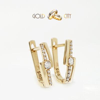 Sárga arany fülbevaló az ékszer webáruházból-goldcity.hu