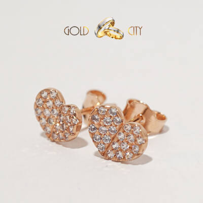 Rozé arany fülbevaló az ékszer webáruházból-GoldCity-Ékszer-Webáruház