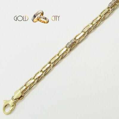Sárga és fehér arany köves karkötő az ékszer webáruházból-GoldCity-Ékszer-Webáruház