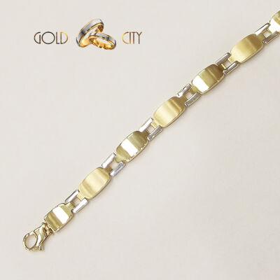 Sárga és fehér arany karkötő az ékszer webáruházból-GoldCity-Ékszer-Webáruház