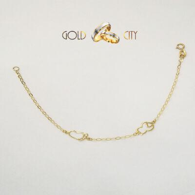 Betétes bébi karlánc, 14 karátos sárga  aranyból-goldcity.hu