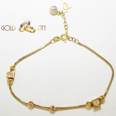 Sárga rozé arany karkötő az ékszer webáruházból-GoldCity-Ékszer-Webáruház