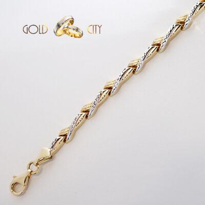 Sárga fehér arany karkötő az ékszer webáruházból-GoldCity-Ékszer-Webáruház