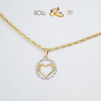 Sárga fehér arany medál az ékszer webáruházból-GoldCity-Ékszer-Webáruház