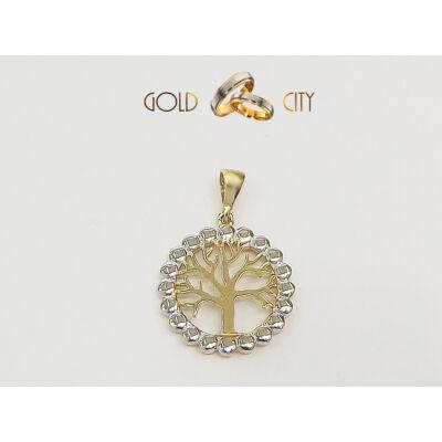 Fehér és sárga arany medál az ékszer webáruházból-GoldCity-Ékszer-Webáruház