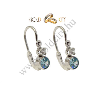 Fehér arany bébi fülbevaló az ékszer webáruházból-goldcity.hu