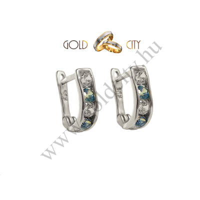 Bébi fülbevaló fehér aranyból-Goldcity Ékszer Webáruház