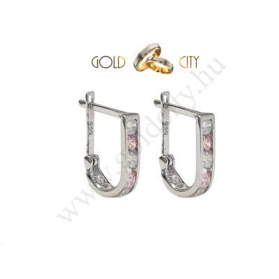Fehér arany köves fülbevaló-Goldcity Ékszer Webáruház