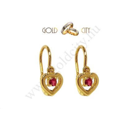 Sárga arany pillangó bébi fülbevaló az ékszer webáruházból-goldcity.hu