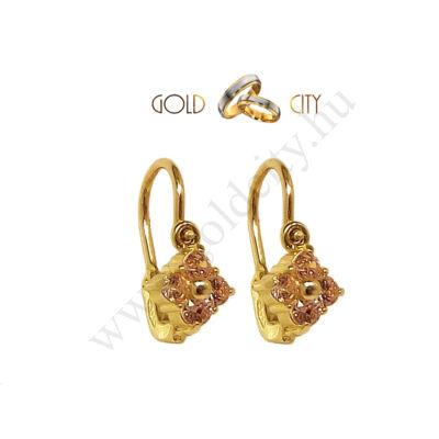 Sárga arany bébi fülbevaló az ékszer webáruházból-goldcity.hu