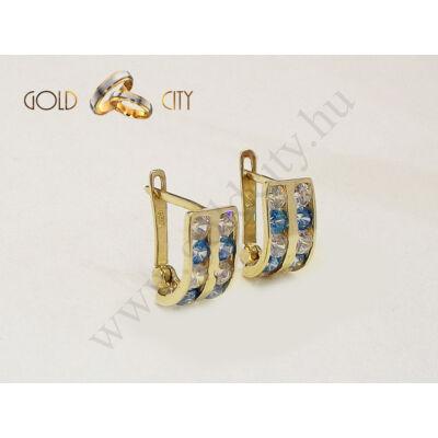 Köves sárga arany fülbevaló a Goldcity Ékszer Webáruházból
