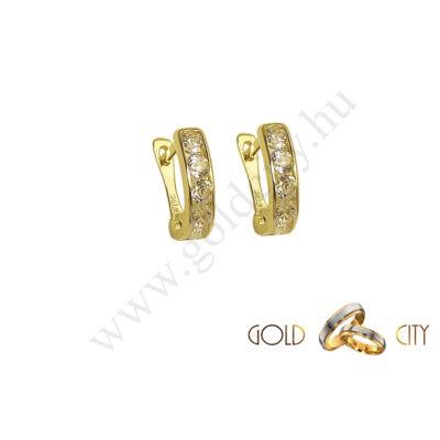 Sárga arany bébi fülbevaló az ékszer webáruházból-GoldCity-Ékszer-Webáruház