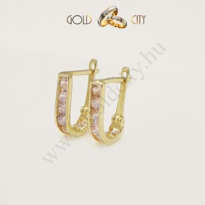 14 karátos sárga aranyból készült fülbevaló az ékszer webáruházból.