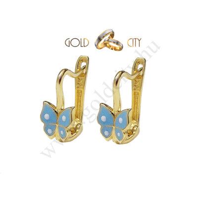 Bébi pillangó fülbevaló az ékszer webáruházból-goldcity.hu