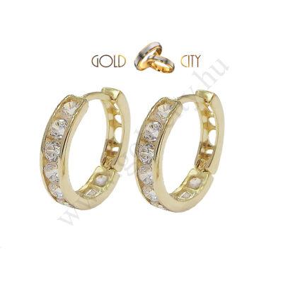 Sárga arany gyermek fülbevaló az ékszer webáruházból-goldcity.hu