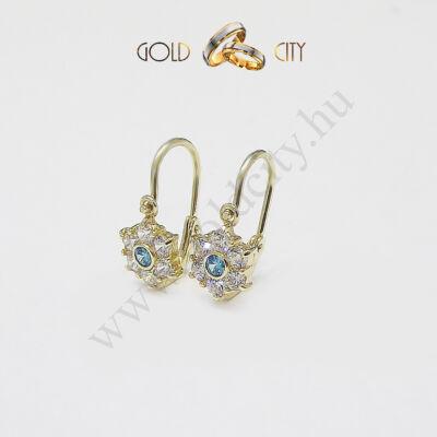 Sárga arany lányka fülbevaló az ékszer webáruházból-goldcity.hu