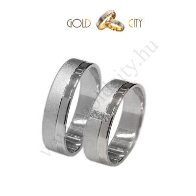 Fehér arany karikagyűrű, 14 karátos aranyból az ékszer webáruházból