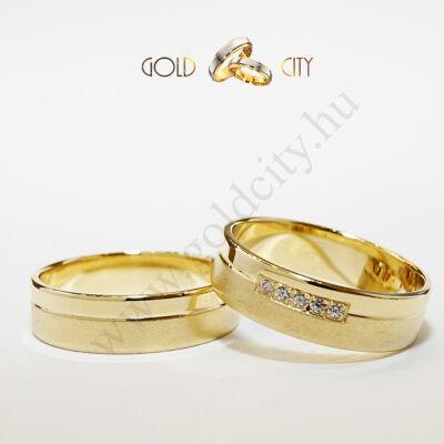 Karikagyűrű 14 karátos  sárga  aranyból-goldcity.hu